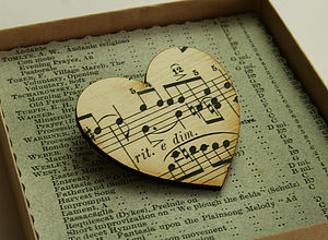 Vintage Music Brooch - music-lover
