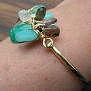 Teal green and brown jewellery
