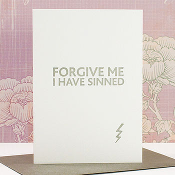 'Forgive Me' Letterpress Card