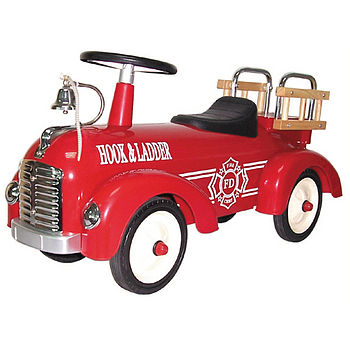 Classic Fire Engine Ride On Toy