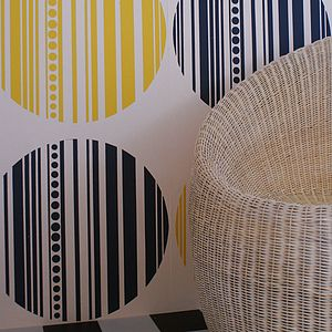 Bauhaus Circle Hand Printed Wallpaper - painting & decorating