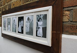Reclaimed Wooden Multi Aperture Photo Frame - picture frames