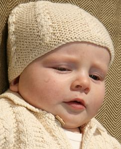 Handmade Organic Cotton Baby Cable Hat