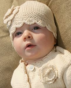 Organic Cotton Baby Crochet Flower Hat - hats, scarves & gloves