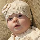 Organic Cotton Baby Crochet Flower Hat