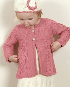 Handmade Organic Cotton Cable Smock Cardigan