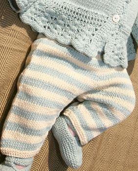 Handmade Organic Cotton Baby Striped Leggings
