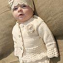 Handmade Organic Cotton Baby Crochet Frill Cardigan
