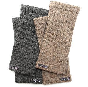 Pure Cashmere Heart Wrist Warmers - outdoor winter warmers