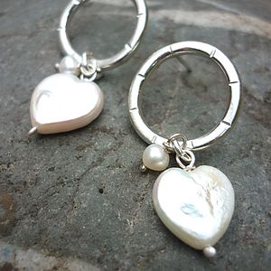Silver Halo Pearl Drop Earrings