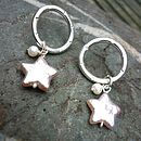 Halo earrings star pearl