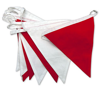 Red & White Bunting