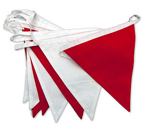 Red And White Cotton Bunting Ten Metres