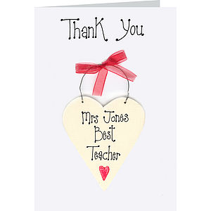 Personalised Teachers Thank You Card - gifts for teachers