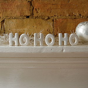 HO HO HO Ceramic Letters - decorative letters