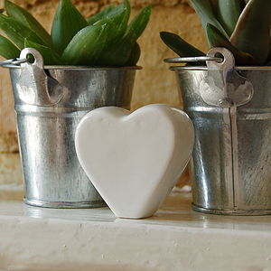 Free Standing Ceramic Heart - table decorations