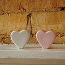 White or Pink Heart