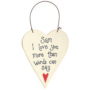 Personalised Valentine Message Heart - signs