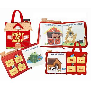 Right At Home Personalised Fabric Book - soft toys & dolls