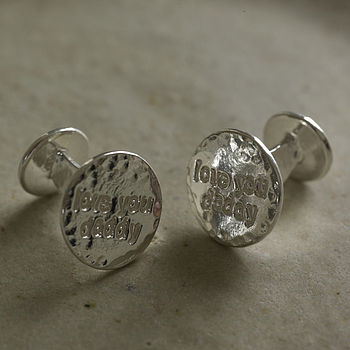 'Love You Daddy' Cufflinks