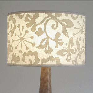 Butterfly Wide Drum Lampshade - lamp bases & shades