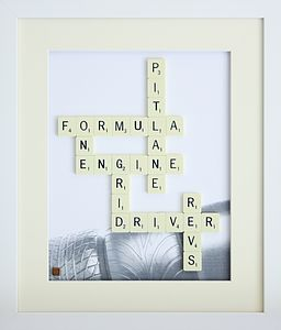 Sporting Themed Scrabble Art - sport-lover