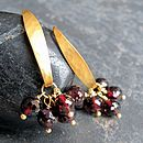 Morocco Gold Vermeil & Garnet Earrings