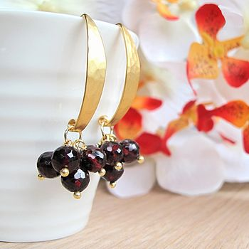 Morocco Gold Vermeil Garnet Earrings