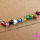 Heart charm colour selection