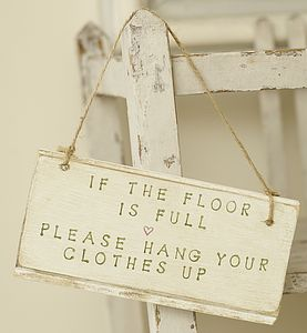 If The Floor Is Full  Handpainted Sign - room decorations