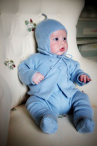 Hand Knitted Merino Cashmere Flaphat - children's accessories