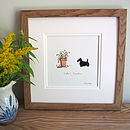 Scottie Dog Personalised Hand Finished Art Print
