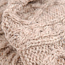 Aran Wool Cable Knit Throw, Oatmeal