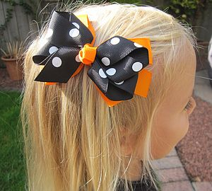 Halloween Hair Bow - babies & children