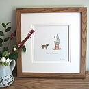 Border Terrier Personalised Hand Finished Art Print