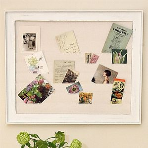 Framed Fabric Memo Board - kitchen accessories
