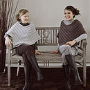 French Design Girls Cable Knit Poncho