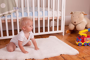Natural Baby Lambskin Fleece - bedroom