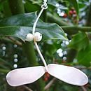 'Christmas Kiss' Silver and Pearl Mistletoe Necklace