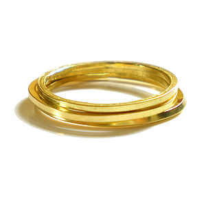 18k Yellow Gold Stacking Ring - rings