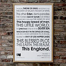 'This England' framed print