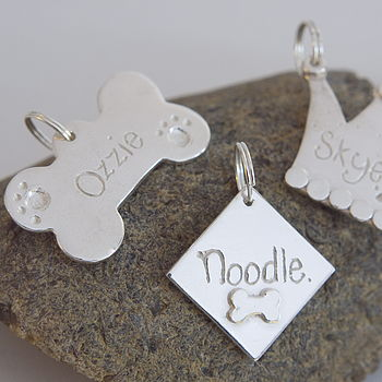 Pampered Pooch Solid Silver Pet Identity Tag