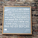 WOW 'Songbird' Personalised Framed Print