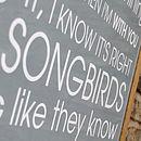 'Songbird' close-up