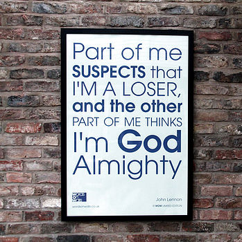 'God Almighty' framed print