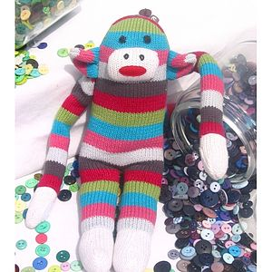 Striped Monkey - soft toys & dolls