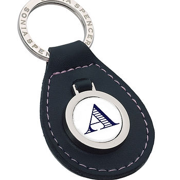 Personalised Leather Initial Keyring