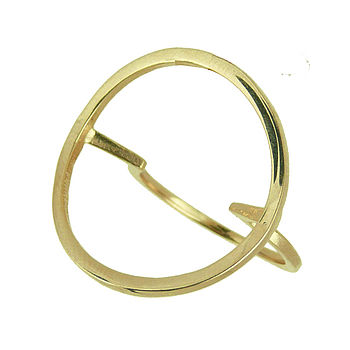 Gold Open Circle Ring