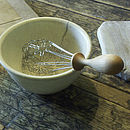 Buttercup Whisk in bowl