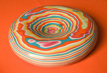 Recycled Striped Paper Stone